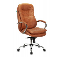 Кресло руководителя Бюрократ T-9950 Leather Ontano кожа крестовина металл хром