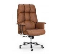 Кресло для руководителя Norden Президент коричневая экокожа