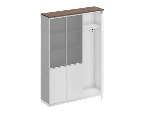 Шкаф комбинированный (документы со стеклом - одежда узкий) City СИ 310