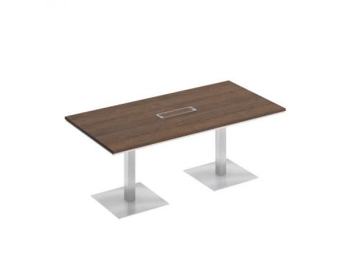 Стол для переговоров на квадратных опорах-колоннах City СИ 151 200х90см