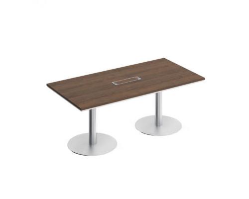 Стол для переговоров на круглых опорах-колоннах City СИ 153 180х90см