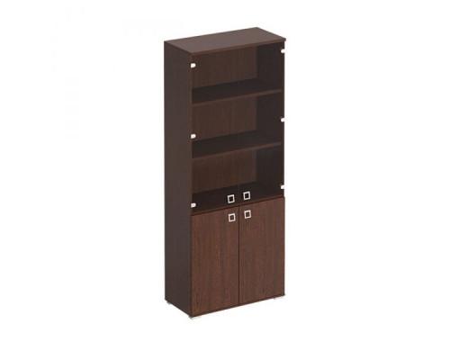 Шкаф для документов со стеклянными прозрачными дверьми Cosmo КС 305