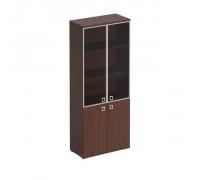 Шкаф для документов со стеклянными тонированными дверьми в рамке Cosmo КС 306