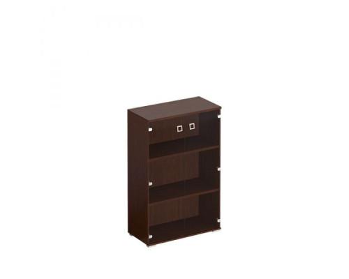 Шкаф для документов средний со стеклянными прозрачными дверьми Cosmo КС 302