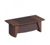 Стол руководителя с фронтальной панелью, столешница дерево/ кожа ISixty S210H