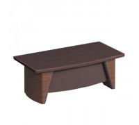 Стол руководителя с фронтальной панелью, столешница кожа ISixty C270H