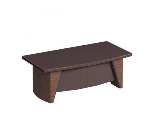 Стол руководителя с фронтальной панелью, столешница кожа ISixty C240H