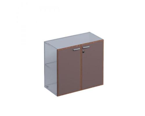 Двери низкие, в коже с деревянной рамкой ISixty СO80/90