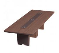 Стол для переговоров прямоугольный, дерево+кожа ISixty 420TA