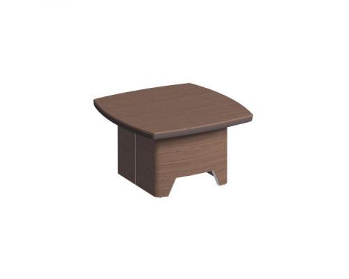 Журнальный столик, столешница шпон, металл. вставки в опоре ISixty 80TV