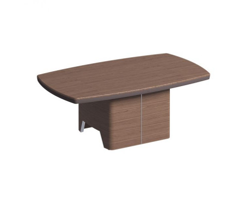 Журнальный столик, столешница шпон, металл. вставки в опоре ISixty 120TV