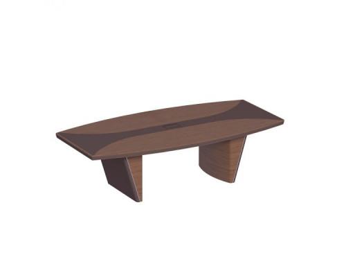 Стол для переговоров, дерево/кожа ISixty 220TAS