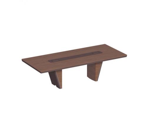 Стол для переговоров прямоугольный, дерево/кожа ISixty 280TA