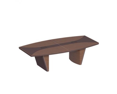 Стол для переговоров овальный, дерево/кожа, металлическая вставка ISixty 280TAOVS