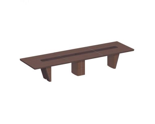Стол для переговоров прямоугольный, дерево/кожа, металлическая вставка ISixty 420TA
