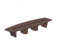 Стол для переговоров овальный, дерево/кожа, металлическая вставка ISixty 560TAOV