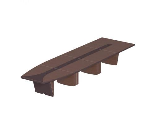 Стол для переговоров овальный, дерево/кожа, металлическая вставка ISixty 560TAPE
