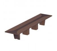 Стол для переговоров прямоугольный, дерево/кожа, металлическая вставка ISixty 560TAS