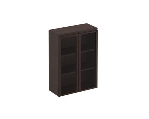 Шкаф для документов средний со стеклянными дверями Mark МК 312