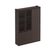Шкаф комбинированный (со стеклом + для одежды узкий) Mark МК 358