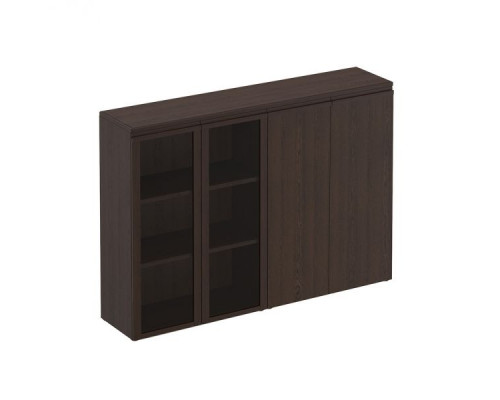 Шкаф для документов средний комбинированный (со стеклом + закрытый) Mark МК 322