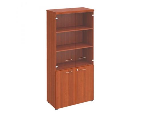 Шкаф для документов со стеклянными прозрачными дверьми Патриот ПТ 983