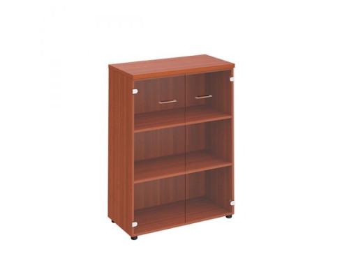Шкаф для документов средний со стеклянными прозрачными дверьми Патриот ПТ 969