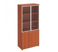 Шкаф для документов со стеклянными прозрачными дверьми в рамке Патриот ПТ 0783