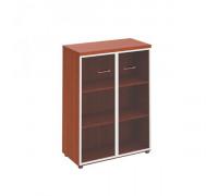 Шкаф для документов средний со стеклянными прозрачными дверьми в рамке Патриот ПТ 769