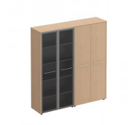 Шкаф комбинированный высокий (стекло + одежда) Reventon МЕ 357