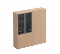 Шкаф комбинированный высокий (стекло + одежда) Reventon МЕ 358