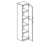 Шкаф с распашными дверьми правый/левый Orgspace F8726/F8727