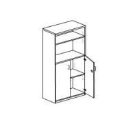 Шкаф с распашными дверьми с замком Orgspace F9717