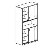 Шкаф с раздвижными дверьми, с замками Orgspace F8601