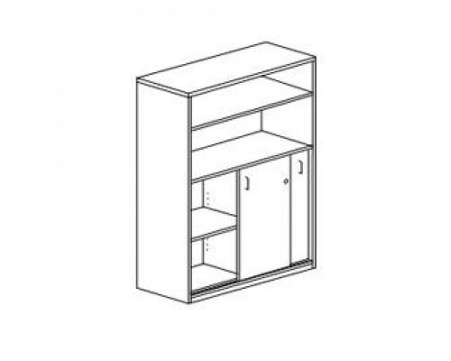 Шкаф для документов с раздвижными дверьми, с замком Orgspace F8612