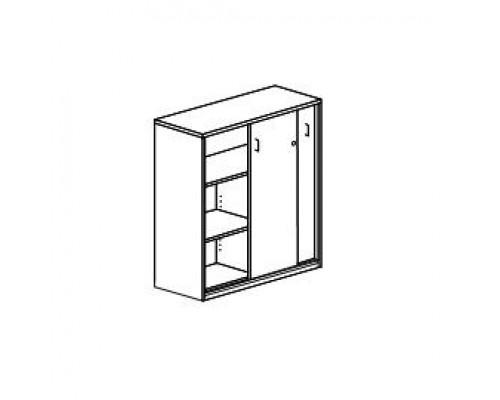 Шкаф для документов с раздвижными дверьми и замком Orgspace F8616