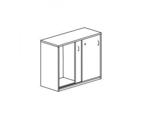 Шкаф низкий для оргтехники с замком с кабель-каналами в задней стенке Orgspace F8652