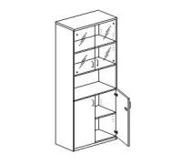 Шкаф с распашными дверьми Orgspace F8707