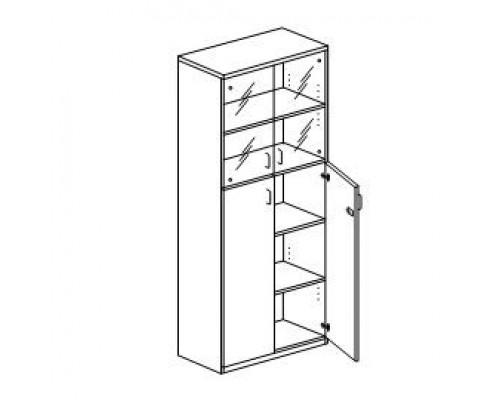 Шкаф с распашными дверьми, с замком Orgspace F9708