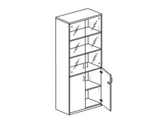 Шкаф с распашными дверьми, с замком Orgspace F9709