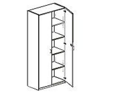 Шкаф с распашными дверьми, с замком Orgspace F9701