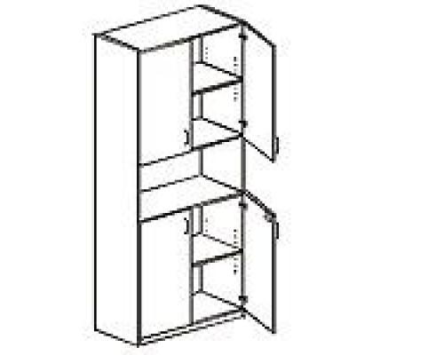 Шкаф с распашными дверьми, с замками Orgspace F9702