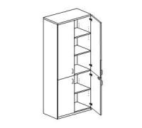 Шкаф для документов 4-дверный Orgspace F8704
