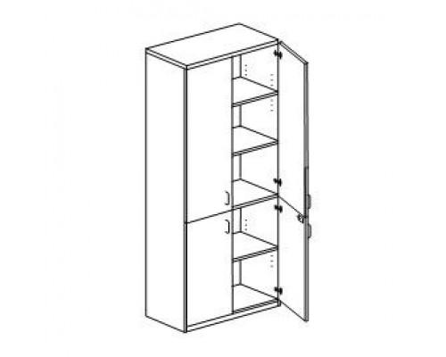 Шкаф с распашными дверьми с замками Orgspace F9704