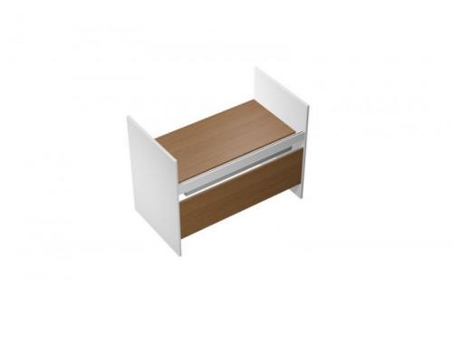 Стол письменный на высоких опорах ДСП c ProSystem PROFIQUADRO LIGHT КВ 1211 БН