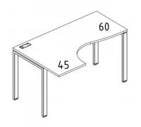 """Стол эргономичный левый """"Классика"""" на металлокаркасе UNO A4 Б1 031 БП"""