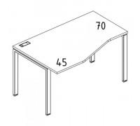 "Стол эргономичный левый ""Техно"" на металлокаркасе UNO A4 Б1 061 БП"