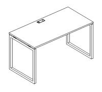 Стол письменный на металлокаркасе QUATTRO A4 Б4 001 БП