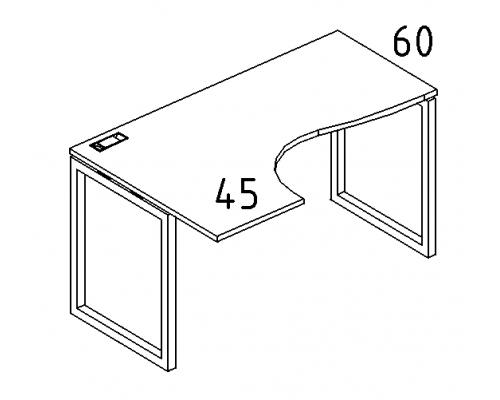 """Стол эргономичный левый """"Классика"""" на металлокаркасе QUATTRO A4 Б4 033 БП"""