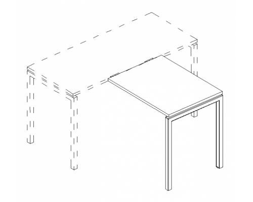 Брифинг-приставка на металлокаркасе DUE A4 Б2 072 БП